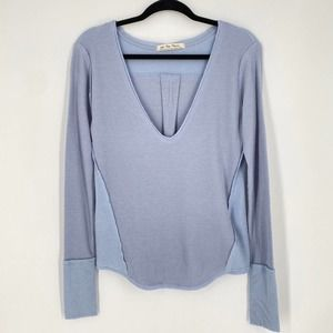 NEW Free People We the Free Thermal V Neck Tee